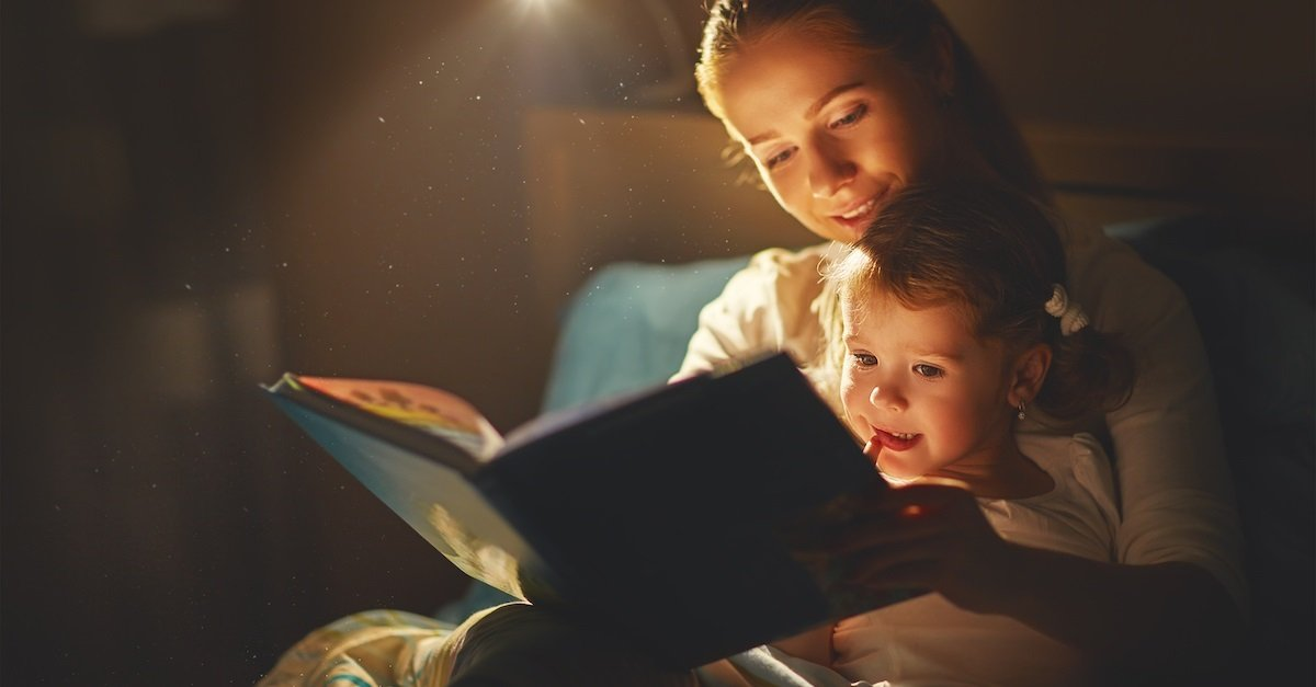 Read a bedtime story for bedtime resistance